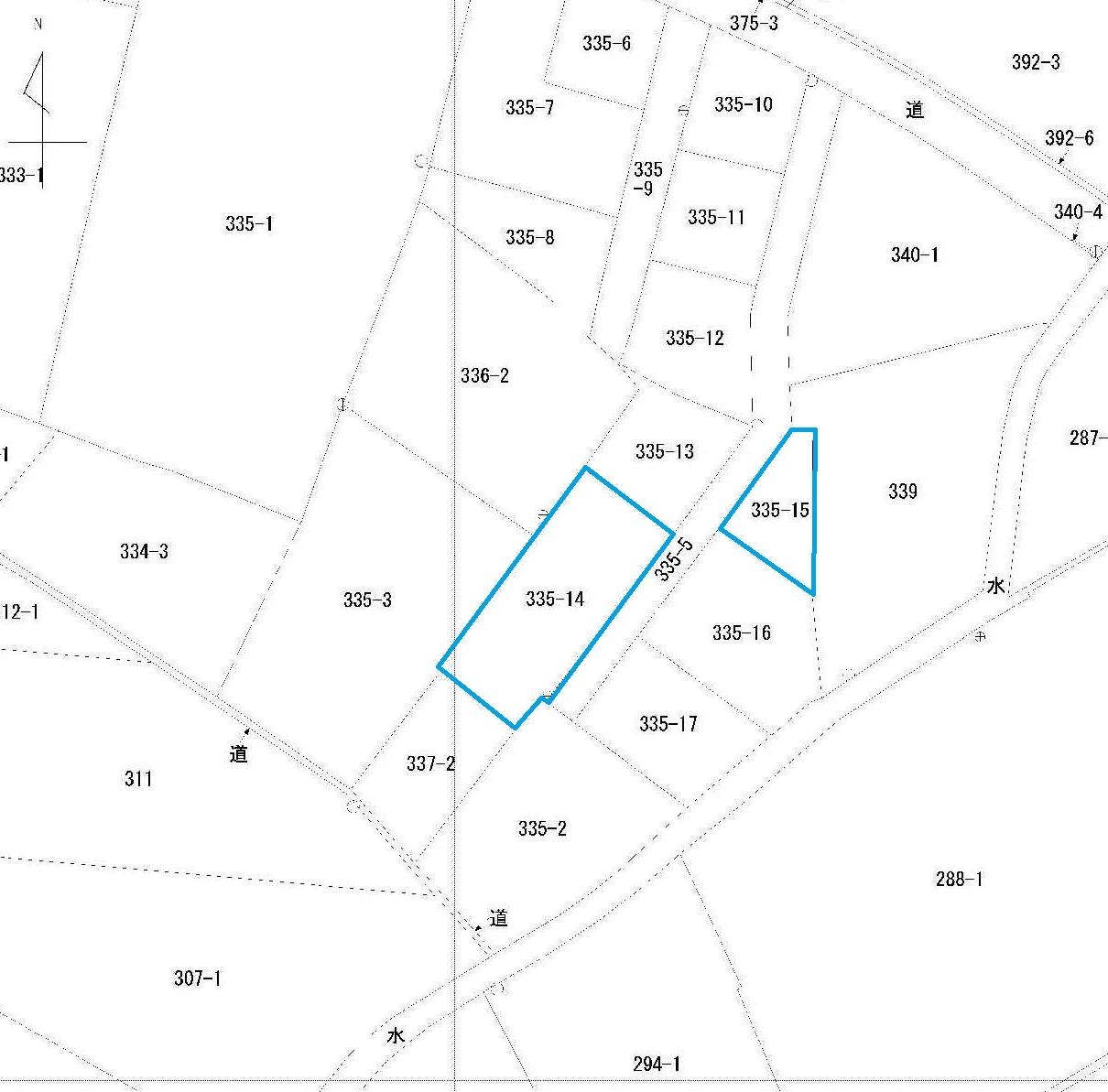 岡山市北区御津矢原335-14不動産登記(地図)2014062452160760